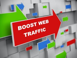 boost your web traffic info graphic